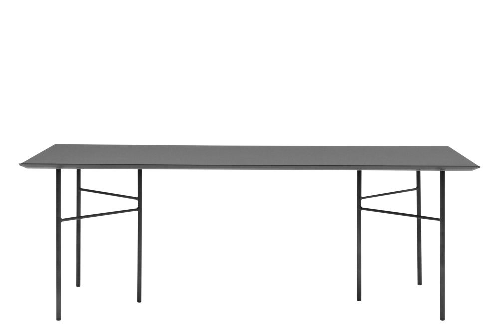 Black Oak, Metal Black, 65 x 135cm,ferm LIVING,Dining Tables