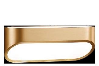 Brass Mat - White Mat,Helestra,Wall Lights,ceiling,lamp,light,light fixture,lighting,sconce