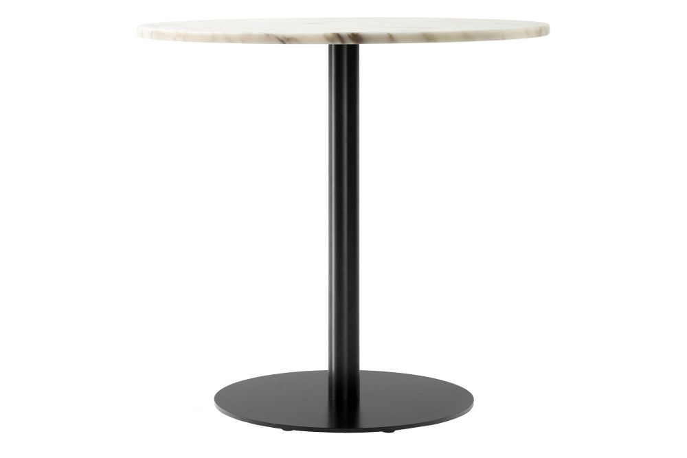 Off White Marble tabletop with Black base,MENU,Dining Tables,end table,furniture,lamp,table