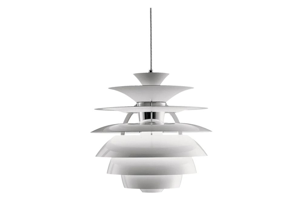 Louis Poulsen,Pendant Lights,ceiling,ceiling fixture,lamp,light fixture,lighting,white