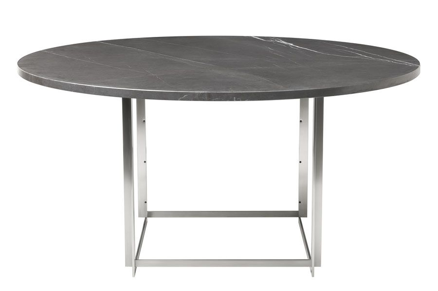 Marble Rolled White,Fritz Hansen,Dining Tables,coffee table,furniture,outdoor table,table