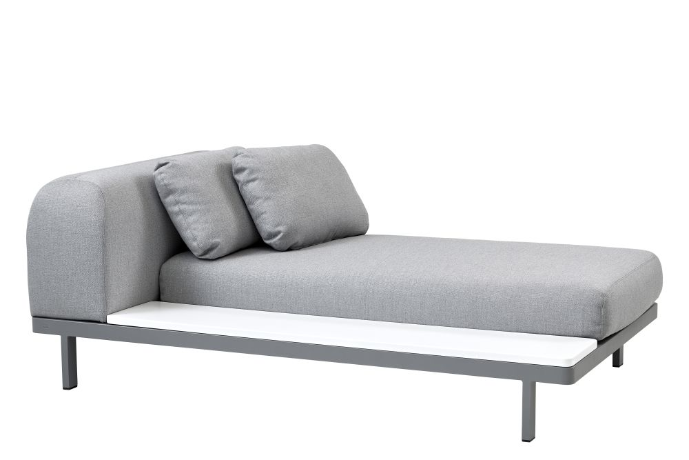 AITL  Light grey, Right Side Plate,Cane Line,Outdoor Sofas