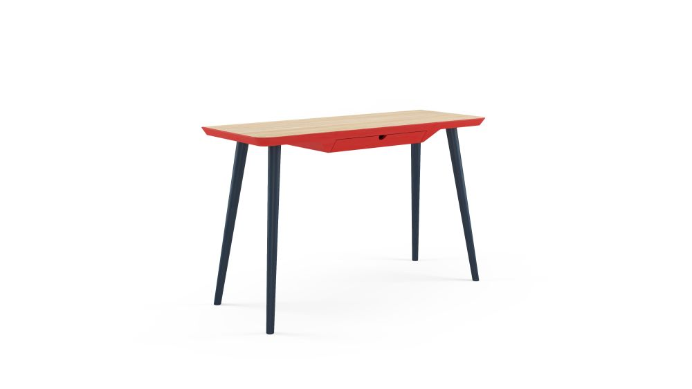 WW DESK CS3 - Oak, Red & Blue,Hayche,Office Tables & Desks
