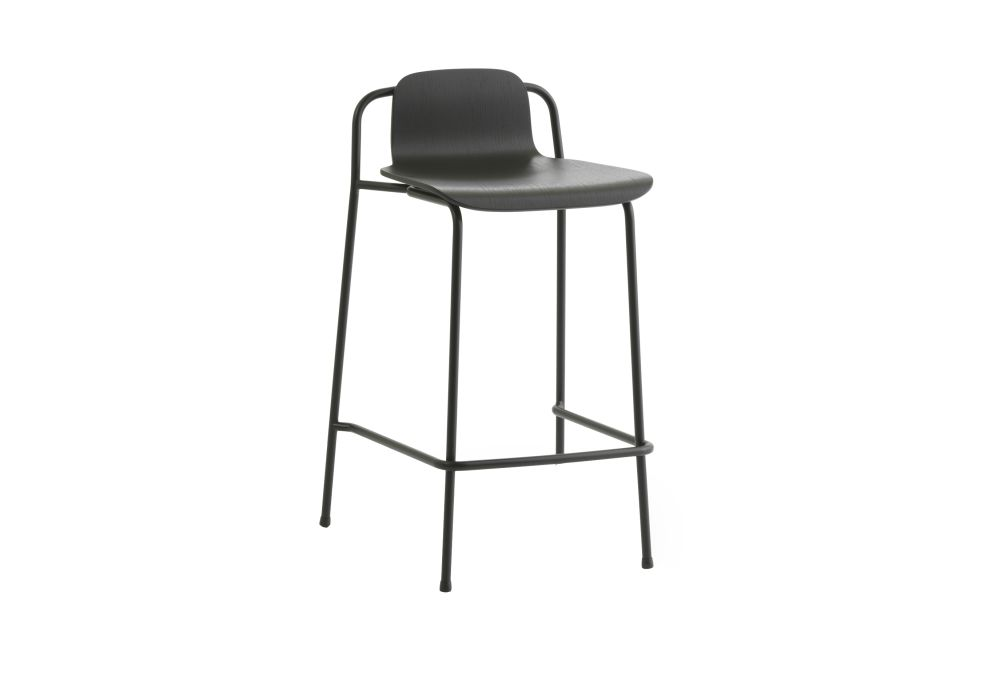 Black Painted Oak, 65,Normann Copenhagen,Workplace Stools