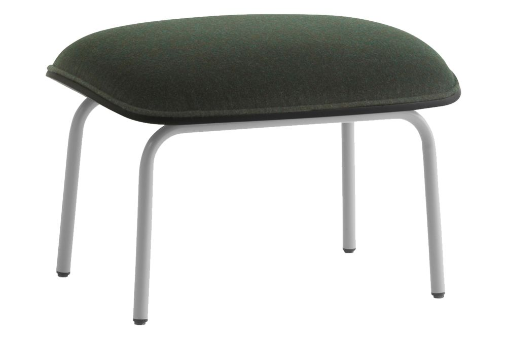 Black Steel, Lacuered Oak Veneer, Main Line Flax,Normann Copenhagen,Footstools