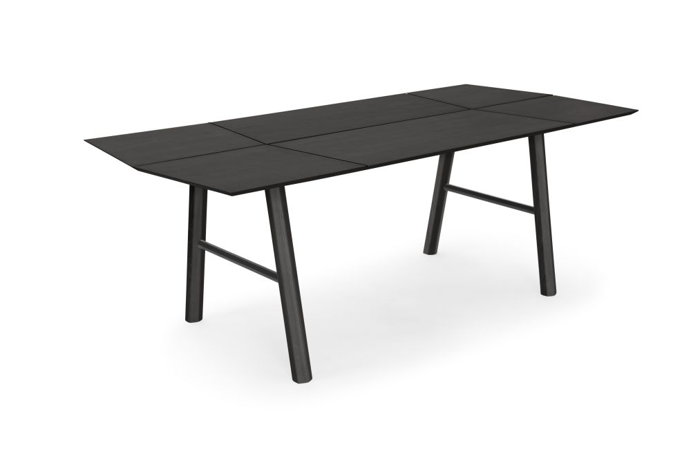 Black-Black Savia Table,WOODENDOT,Dining Tables