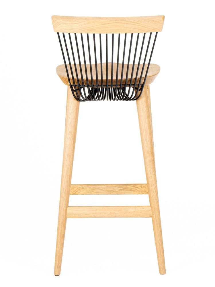 WW BAR STOOL - OAK & BLACK,Hayche,Stools