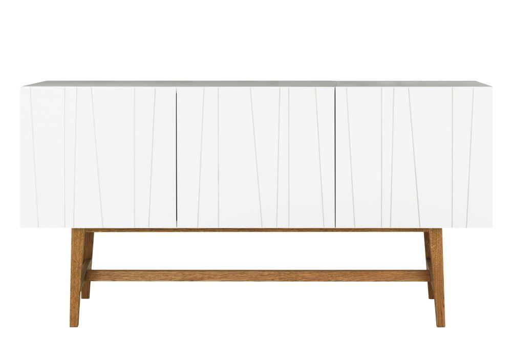 Stained Oak Dark Smoked, 72h x 135w x 40d,Asplund,Cabinets & Sideboards