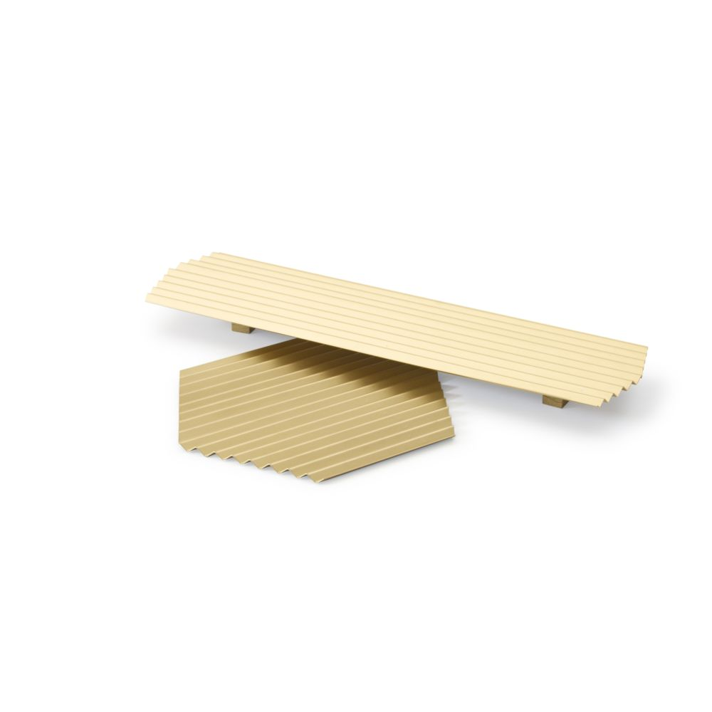 VALLE Duo trays - Gold,WOODENDOT,Accessories