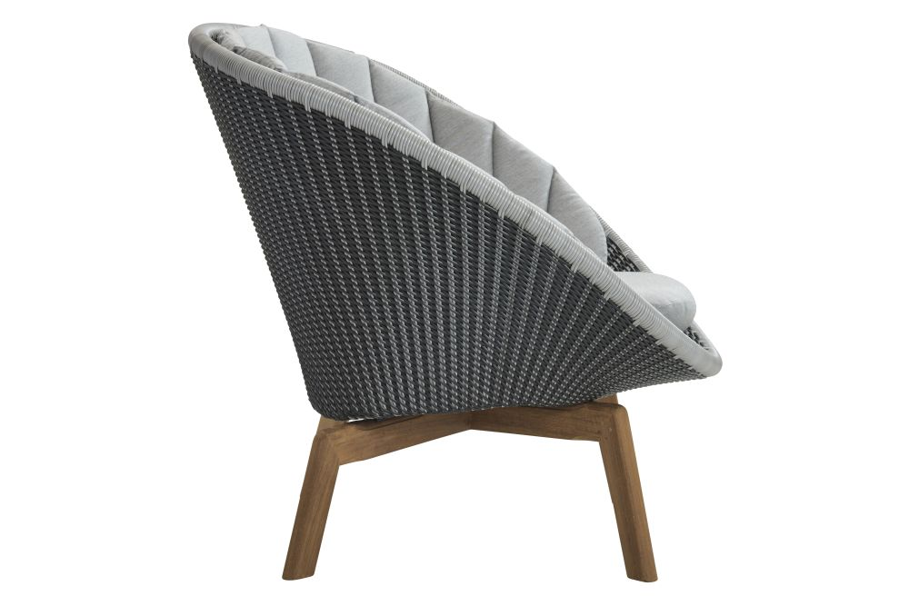 YSN95 Grey, BCT Midnight / Dusty Blue,Cane Line,Lounge Chairs