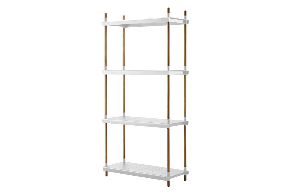 AW Aluminium White, 204,Cane Line,Bookcases & Shelves