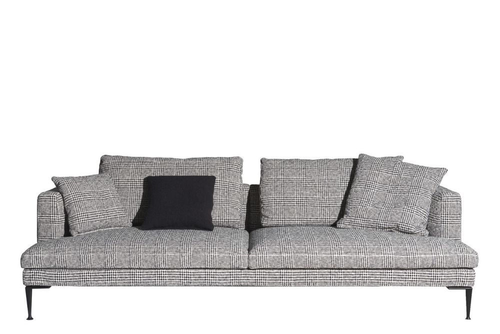 Black, Cairo - Bianco 01,Driade,Sofas,couch,furniture,room,sofa bed,studio couch