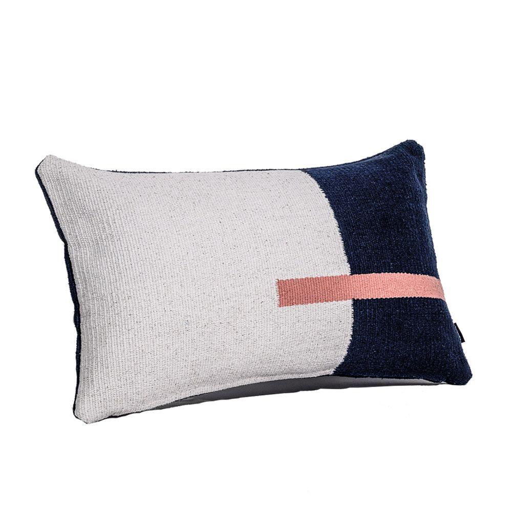Jamakhan Line, Blue & Grey, Rectangle,Tiipoi,Cushions,bedding,cushion,design,furniture,linens,pillow,room,textile,throw pillow