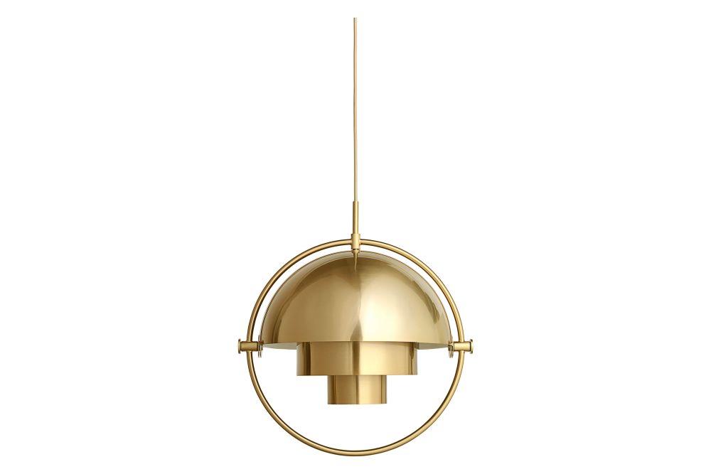 Sea Grey Semi Matt / Brass,GUBI,Pendant Lights