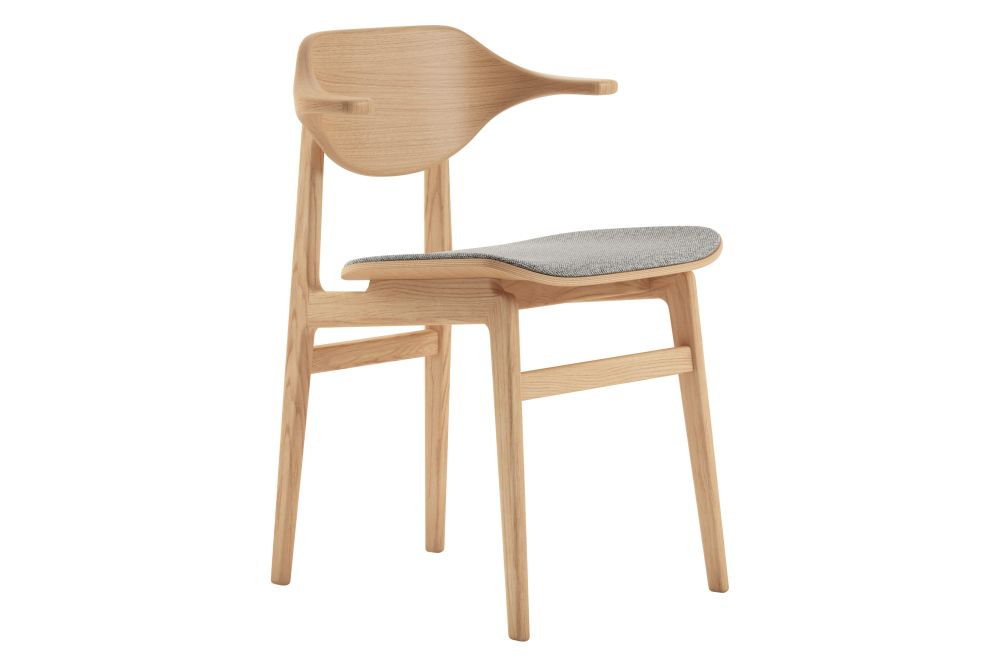 Oak Natural, Wool gr,NORR11,Dining Chairs