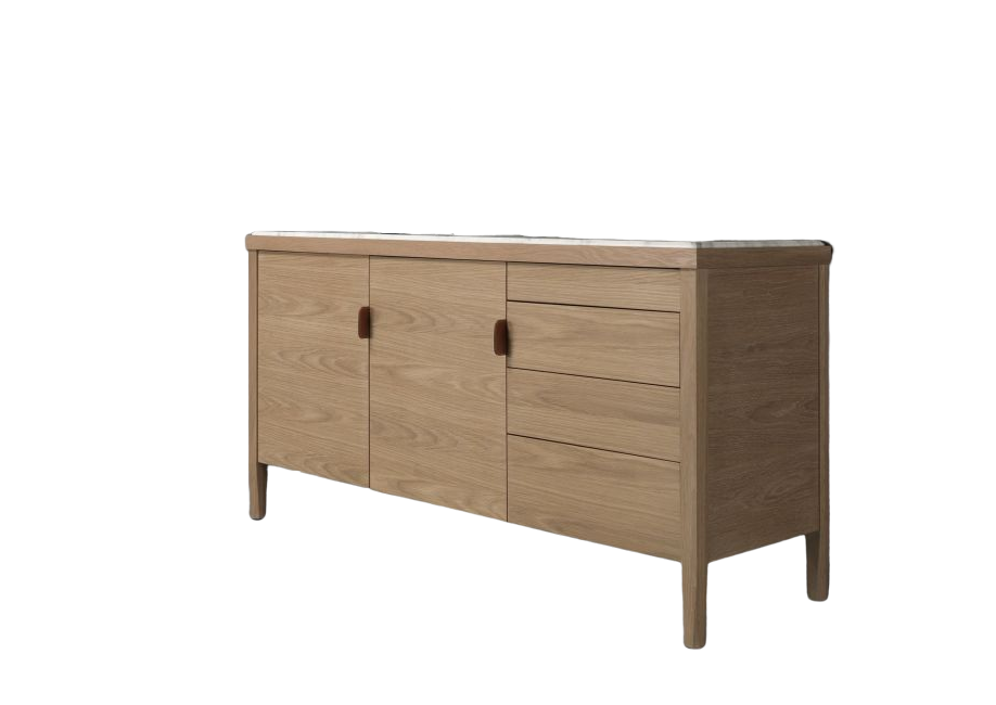 Oak Natural, Calcatta Marble,Wewood ,Cabinets & Sideboards