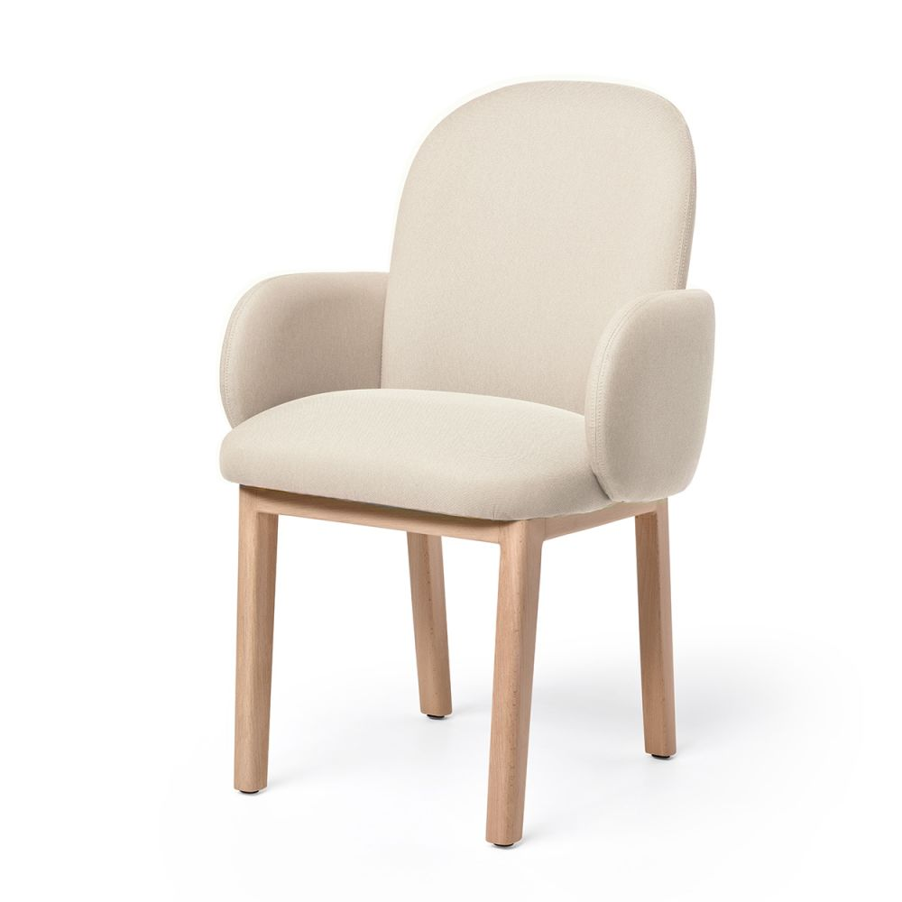 Ivory, Wood base,PUIK,Dining Chairs