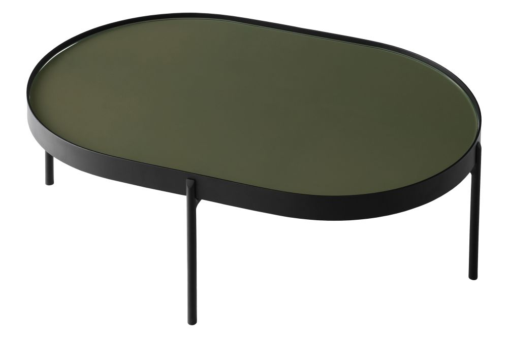 L, Dark Green,MENU,Coffee & Side Tables,coffee table,furniture,oval,table