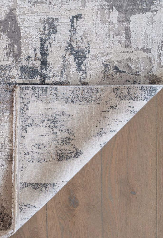 grey abstract rug corner