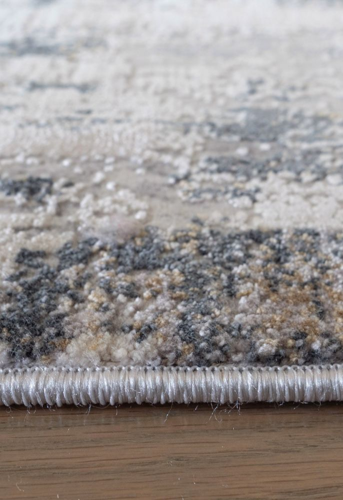 grey abstract rug side view