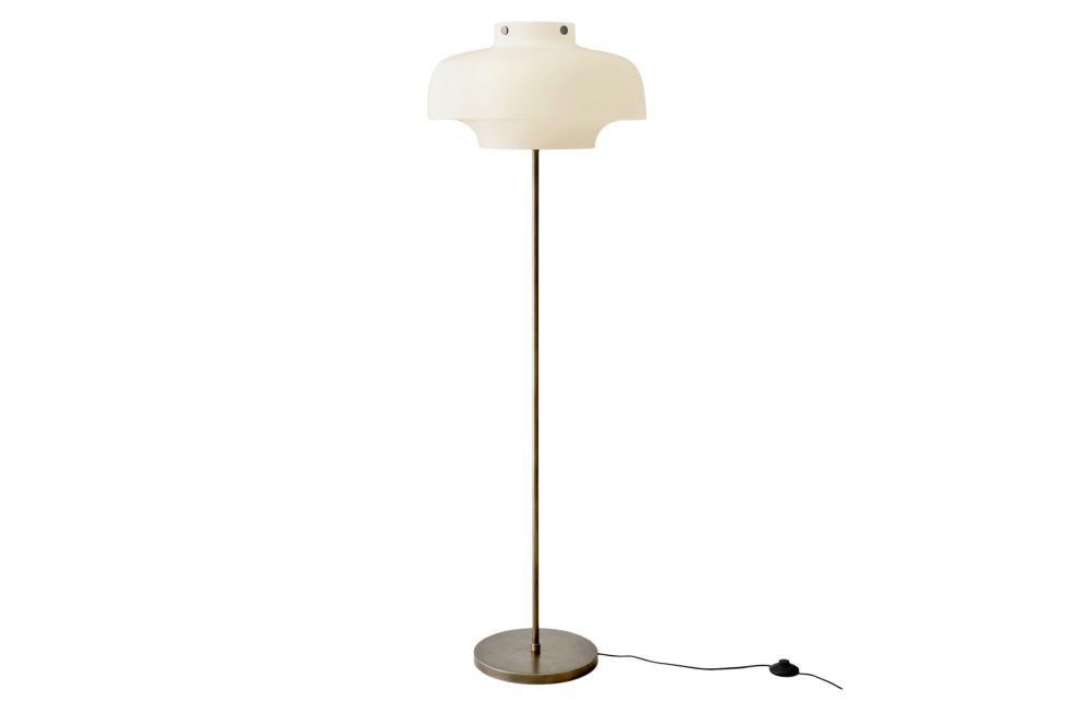Opal glass with bronzed brass,&Tradition,Floor Lamps
