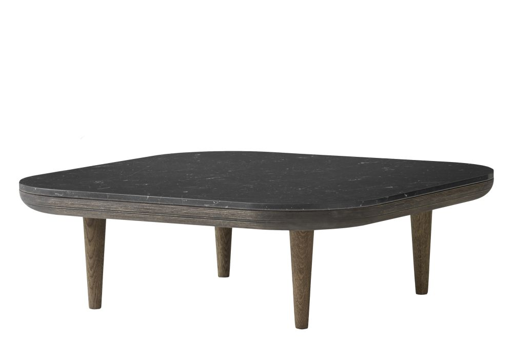 Smoked oiled oak base with honed Nero Marquina Marble,&Tradition,Coffee & Side Tables