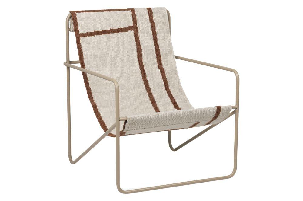 Metal Black, PES Cashmere,ferm LIVING,Lounge Chairs