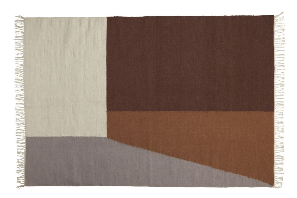 Large,ferm LIVING,Rugs,beige,brown,rectangle