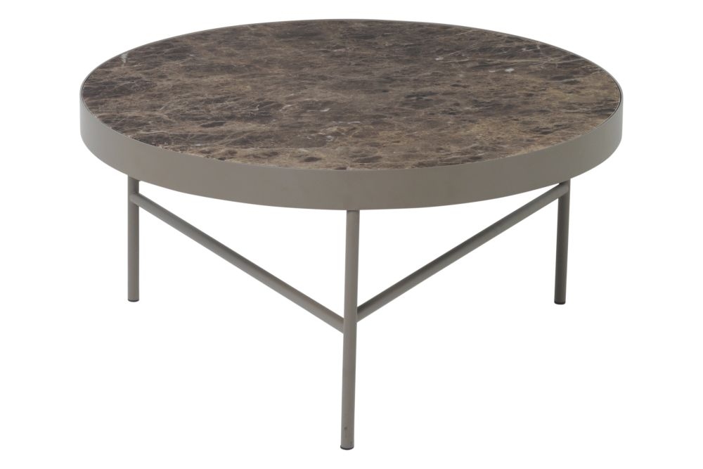 Brown Emperador Marble,ferm LIVING,Coffee & Side Tables