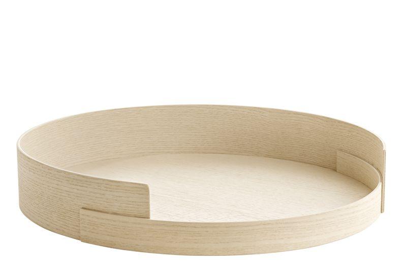 #4, Ø 35 cm, H 6 cm,Fritz Hansen,Trays,beige,product,wood