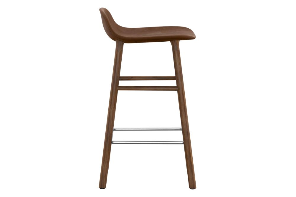 Sørensen Ultra Leather, Natural Walnut, 75,Normann Copenhagen,Stools