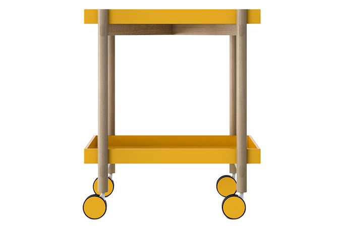 White Texturised Lacquered, Super-Matt Oak,Punt,Trolleys,end table,furniture,table,yellow