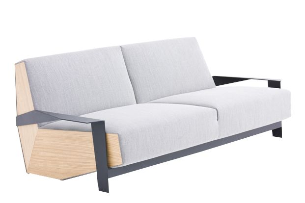 Steelcut Trio 3 983 light blue - W, Tele Grey, Oak Natural, 200 x 106 cm,Moroso,Sofas,comfort,couch,furniture,futon,outdoor furniture,outdoor sofa,sofa bed,studio couch