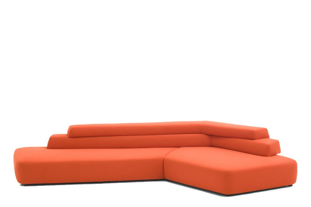 Stamskin Top 4340-00002 - Q, Left,Moroso,Sofas,chaise longue,couch,furniture,orange,sofa bed