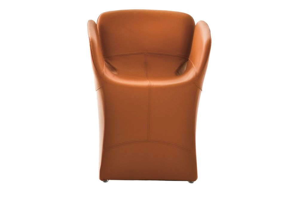 Divina 3 106,Moroso,Dining Chairs,brown,chair,furniture,leather,orange,tan
