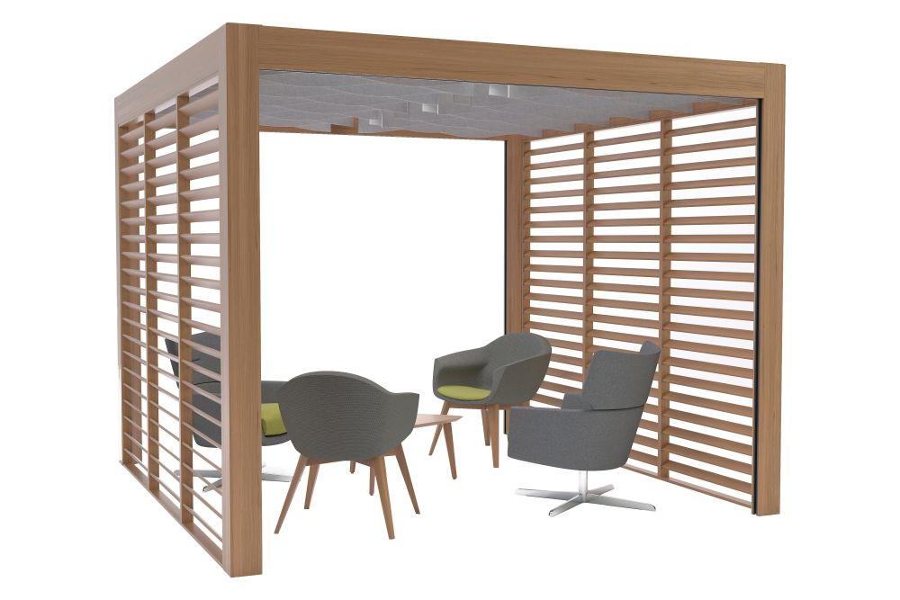 Wood, Curved Baffles,Connection,Acoustic Furniture