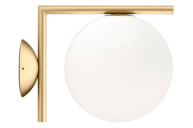 Metal Brushed Brass, IC 1, D 20 cm,Flos,Wall Lights