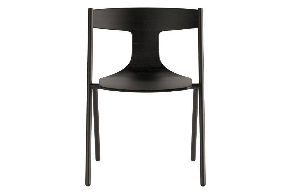 Black RAL 9005, Matt Oak, White,Viccarbe,Dining Chairs