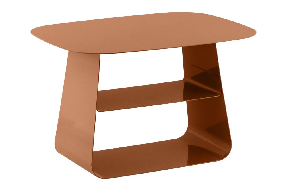 Rust, 40 x 52,Normann Copenhagen,Coffee & Side Tables,furniture,orange,outdoor table,stool,table