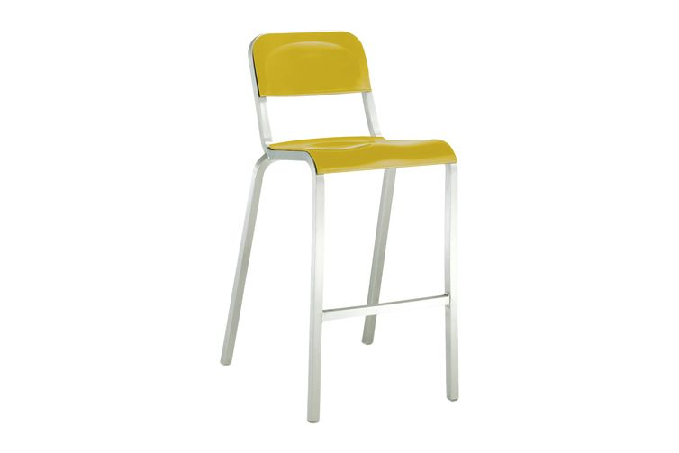 1951 Black,Emeco,Stools,bar stool,chair,furniture,yellow