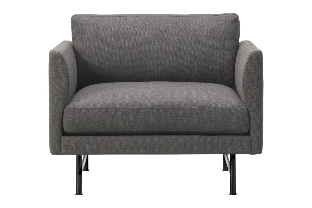 95 Black Painted Fabric Group 1,Fredericia,Lounge Chairs