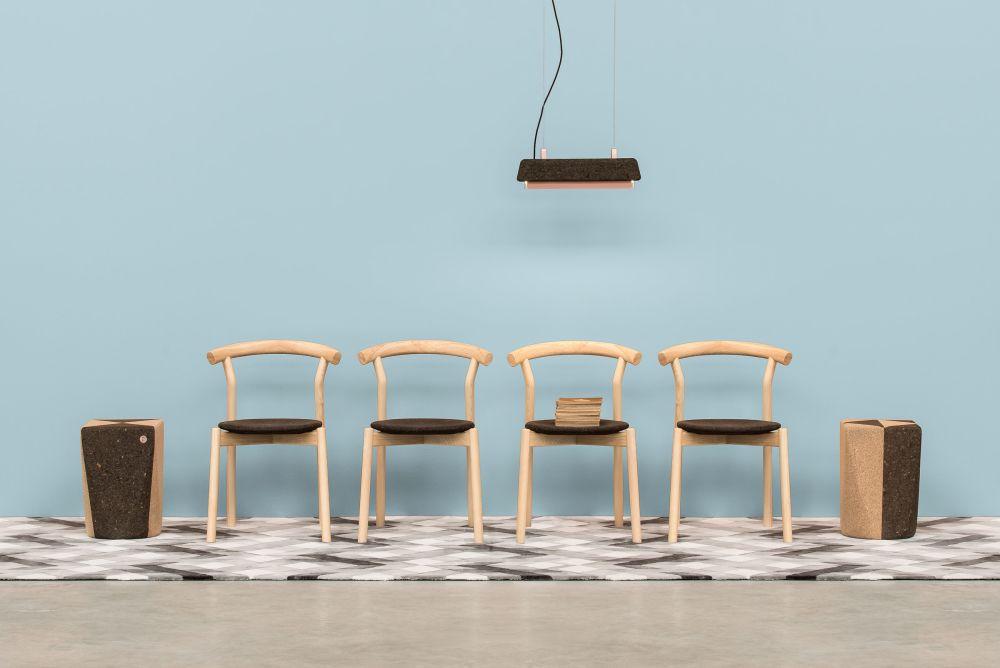 Set of Dina chairs / Ash + Cork