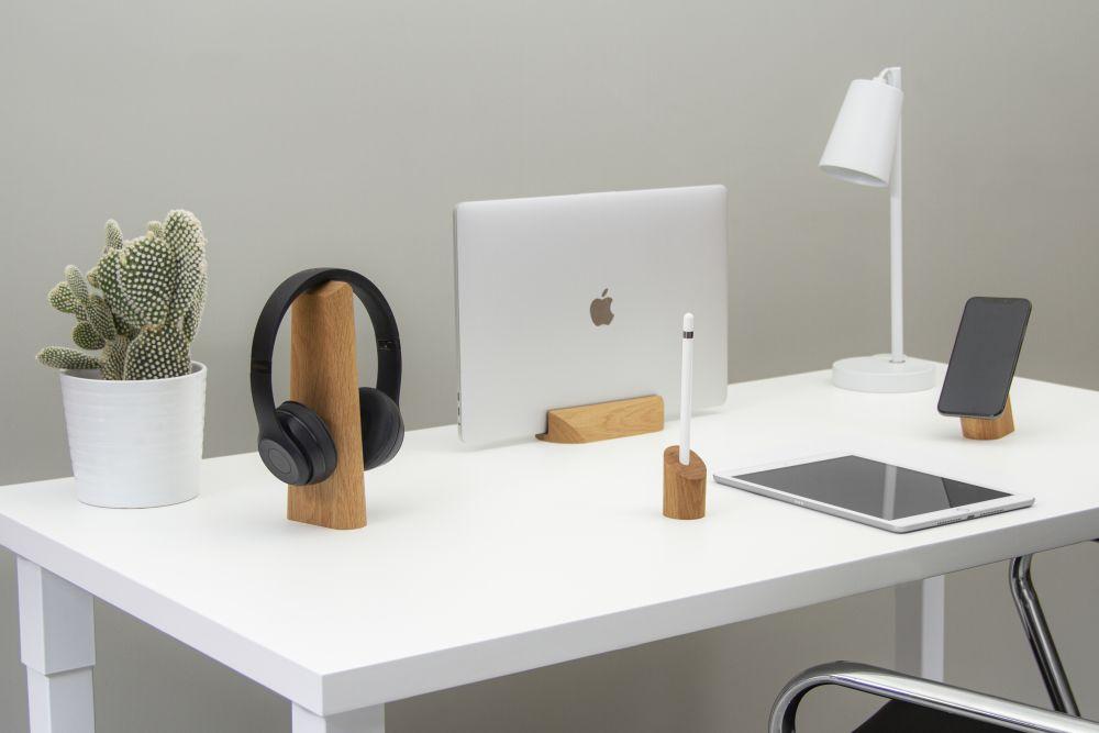 GEO, desk accessories collection Oak