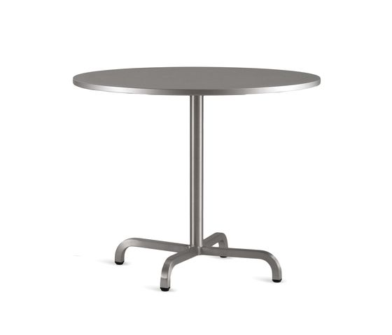 Laminate Top, Matte Aluminium Edge, 76 x 76 cm,Emeco,Dining Tables,end table,furniture,outdoor table,table