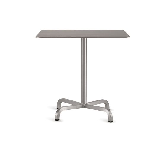 Laminate top, Matte aluminium edge,Emeco,Dining Tables,end table,furniture,outdoor table,rectangle,table
