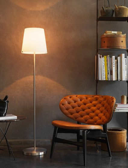 FontanaArte,Floor Lamps,chair,design,floor,flooring,furniture,interior design,lamp,lampshade,light fixture,lighting,lighting accessory,orange,room,table,wall