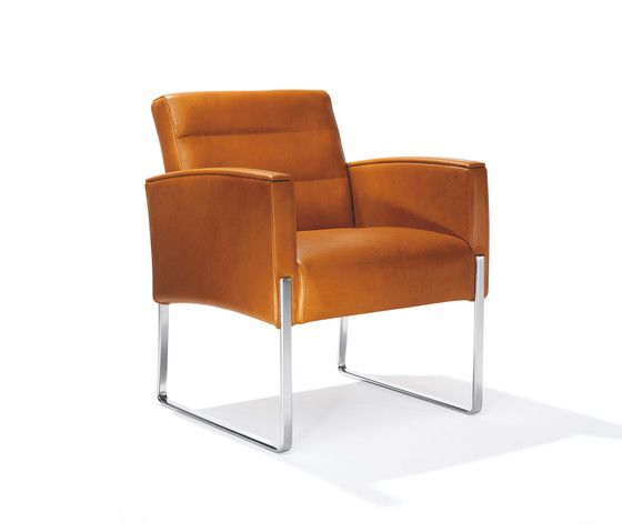 Kusch+Co,Lounge Chairs,armrest,brown,chair,club chair,furniture,leather,orange,tan