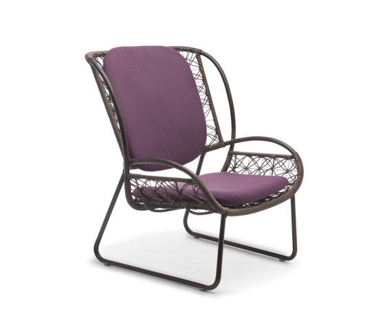 Kenneth Cobonpue,Outdoor Furniture,chair,furniture,magenta,purple,violet