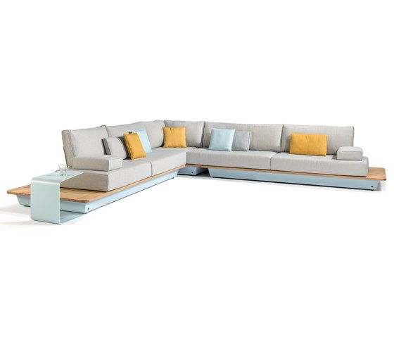 Manutti,Outdoor Furniture,beige,chaise longue,couch,furniture,living room,orange,product,room,sofa bed,studio couch,table,white,yellow