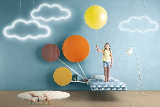 LAGO,Beds,art,cloud,design,illustration,sky,wall,wallpaper